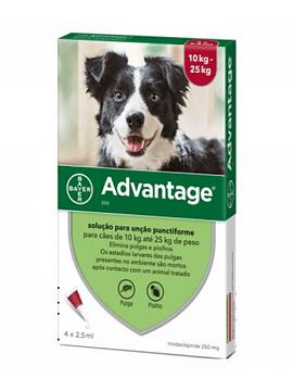 Advantage Cães 10-25kg 2,5mlx4 Pipetas Solução Punctiforme