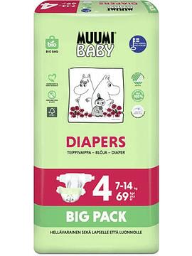 Muumi Baby T4 7-14Kg x69 unidades