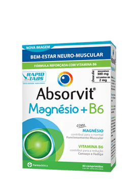 Absorvit MAGNÉSIO + B6  x60 Comprimidos