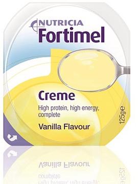 Fortimel Creme Baunilha Pack de 4 pudins, com 125g cada.