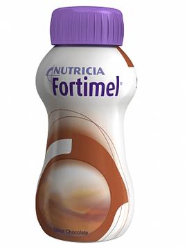 Fortimel Chocolate Pack de 4 garrafas com 200 ml cada.