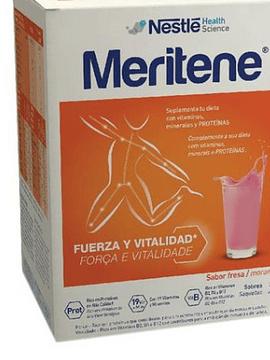 Meritene Morango Carteira pó X 15 pó saquetas