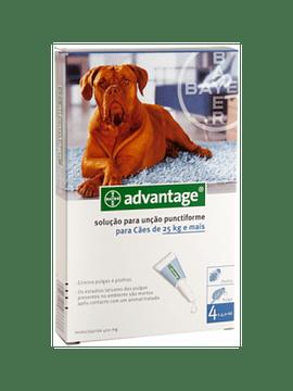 Advantage Cães 25-40kg 4mlx4 Pipetas Solução Punctiforme