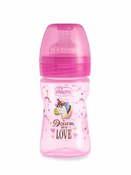 Chicco Biberão Well-Being 150 ml 0m+ Unicórnio Fantastic Love Special Edition Rosa
