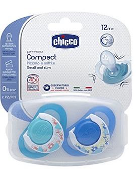 Chicco Chupeta Physio Compact Silicone 12m+ Azul (2unid)