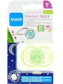 MAM Perfect Night Chupeta Silicone 6M+ + Caixa Estéril