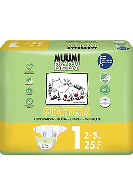 Muumi Baby Tamanho 1 -  2-5 Kg (25 unidades)