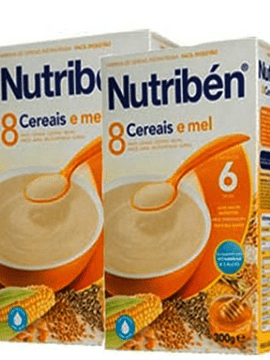 Nutribén Farinha 8 Cereais e Mel 6m+  - 2 X 300g