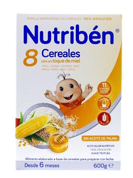 Nutribén Farinha 8 Cereais e Mel 6m+  - 2x300g