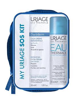 Uriage Bariéderm Kit SOS Cica-Creme Reparador + Água Termal