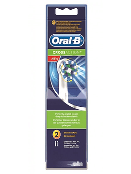Oral B Recarga Escova Eléctrica Crossaction X2