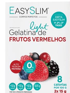 EasySlim Gelatina Light Frutos Vermelhos 2x Saquetas 15 Gramas