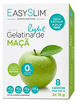 EasySlim Gelatina Light Maçã 2x Saquetas 15 Gramas