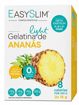 EasySlim Gelatina Light Ananás 2x Saquetas 15 Gramas