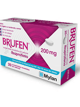 Brufen, 200 mg x 20 comprimidos revestidos