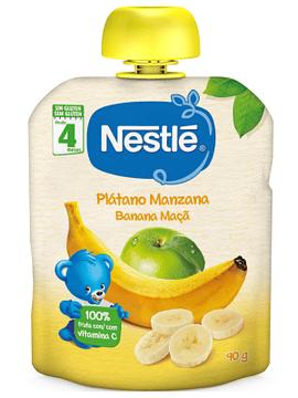 Nestlé Naturnes Banana+Macã 4m+  90G