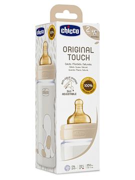 Chicco Biberão Original Touch 2m+ 250ml bege