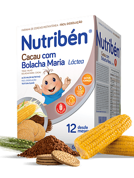 Nutribén Farinha Láctea Cacau com Bolacha Maria 12m+ - 2x300g
