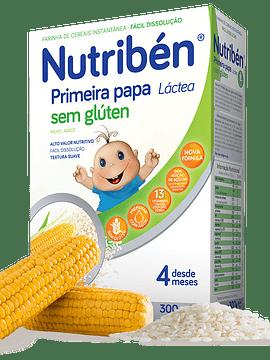 Nutribén Farinha Láctea Primeira Papa S/Glúten 4m+  - 300g
