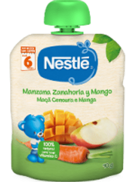 Nestlé Naturnes Maça+Cenoura+Manga 6m+  90G