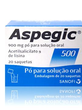 Aspegic 500, 900 mg x 20 pó solução oral saquetas