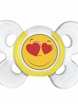Chicco Chupeta  Physio Comfort Smile Latéx 0-6m/amarela