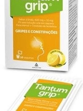 Tantumgrip sabor a limão, 600/10 mg x 10 pó solução oral saqueta
