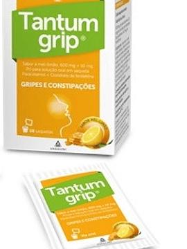 Tantumgrip sabor a mel-limão, 600/10 mg x 10 pó solução oral saqueta