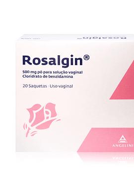 Rosalgin, 500 mg x 20 Pó solução vaginal saqueta