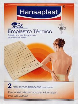 Hansaplast Emplastro Térmico, 4,8 mg/unidade x 2 emplastro
