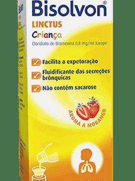 Bisolvon Linctus Criança, 0,8 mg/mL-200mL x 1 xarope mL