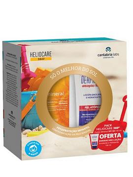 Heliocare 360° Fluido mineral SPF50+ 50 ml com Oferta Dermacare Atopic Glotite Emulsão fluída 100 ml