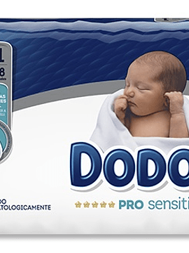 Dodot Pro Sensitive+ Fraldas Tam 1 - 2-5 kg (38 unidades)