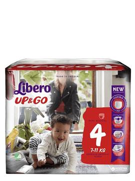 Libero Up&Go Fraldas Tamanho 4 -  7-11 Kg (24 unidades)