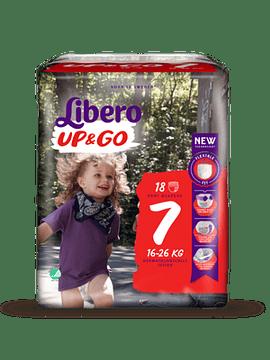 Libero Up&Go Fraldas Tamanho 7 - 16-26 Kg (18 unidades)
