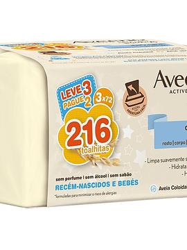Aveeno Baby Toalhitas 3 x 72 Unidades com Oferta de 3ª Embalagem