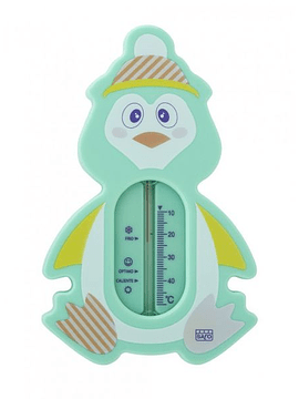 Saro Termómetro de Banho - Pinguim Verde