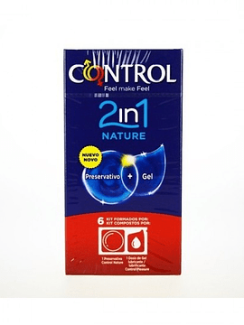 Control Preservativos 2in1 Nature+Gel Nature x6