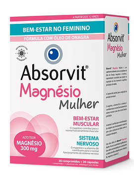 Absorvit MAGNÉSIO MULHER x30 Comprimidos
