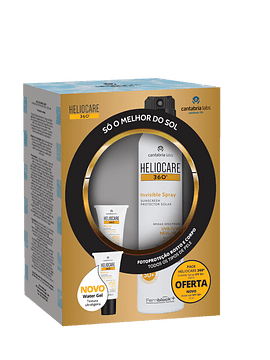 Heliocare 360º Invisible Spray SPF 50+ com oferta Water Gel