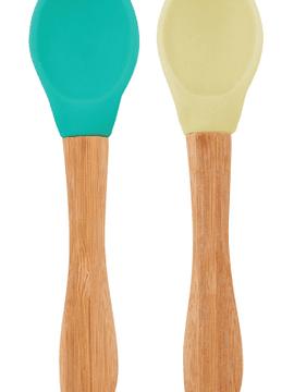 Minikoioi Colheres em Silicone 6m+ - Verde e Amarela