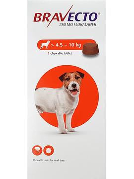 Bravecto Comprimido Mastigável Cães  >4,5-10 Kg  x1 comprimido