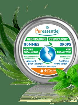 Puressentiel Respiratório Hortelã Eucalipto Gomas  45g