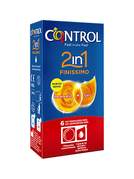 Control 2in1 Finissimo Kit Preservativo + Gel X6