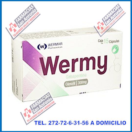 Wermy Gabapentina 300mg 30 capsulas