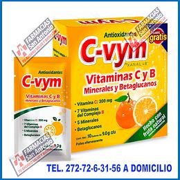 C-Vym  Vitaminas y antioxidantes 10sobres +1 LO MEJOR EN PREVENCION