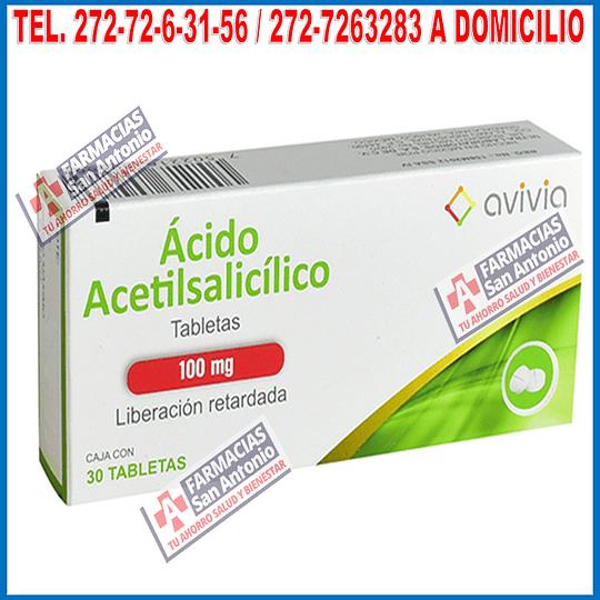 Acido acetilsalicilico 100mg 30tabletas liberación retardada