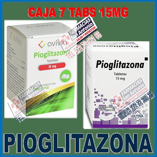 Pioglitazona 15mg  (7 tabletas )