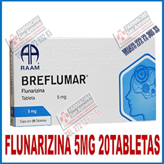 Flunarizina 5mg 20tabletas