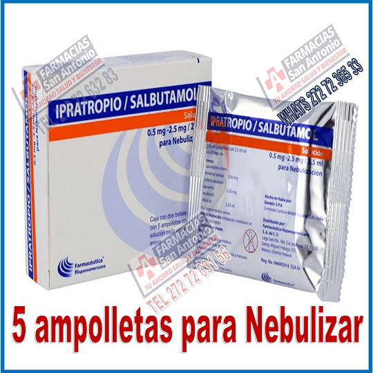 Ipratropio Salbutamol para Nebulización